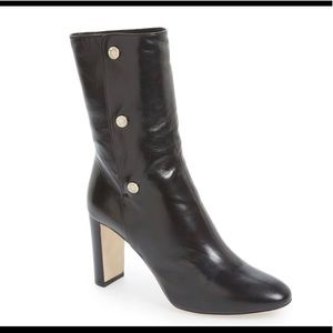 Jimmy Choo Black Leather Dayno Booties Size: 36